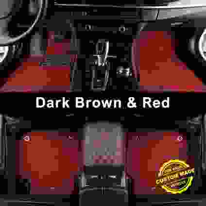 Dark Brown and Red