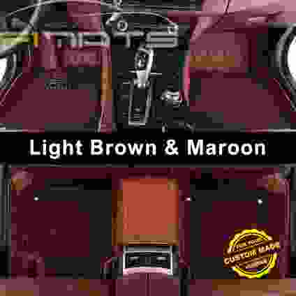 Light Broown and Maroon